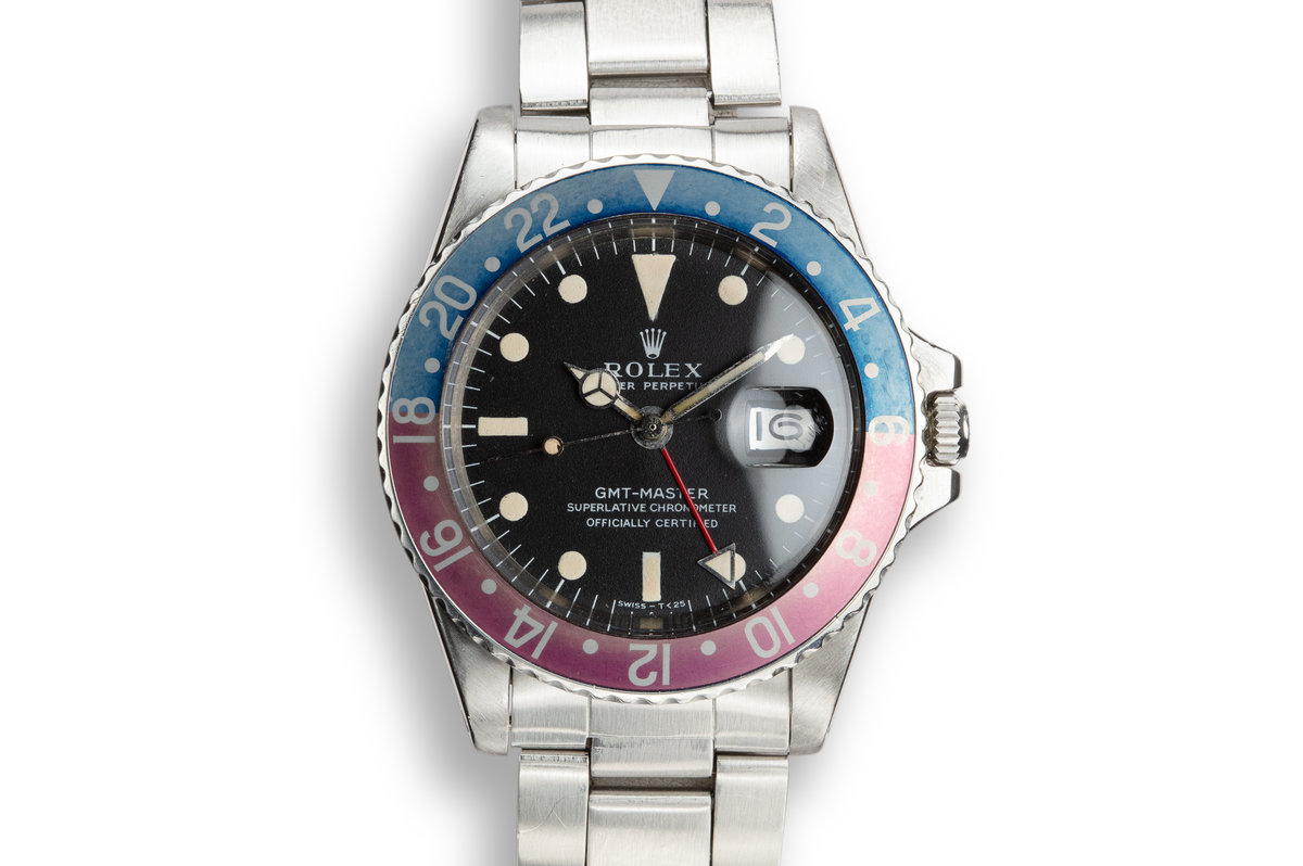 1968 Rolex GMT-Master 1675 with Mark 1 Matte Dial and Fuchsia Bezel photo, #0