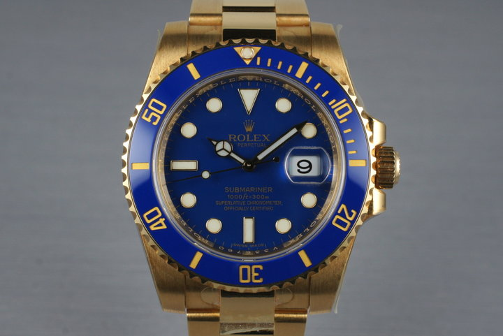 2009 Rolex YG Submariner 116618LB with Box and Papers photo