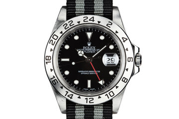 1999 Rolex Explorer II 16570 Black Dial with Box and Papers photo