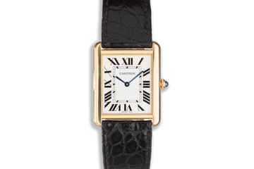 2016 18K & Acier Cartier Tank Solo W5200004 with Box & Papers photo