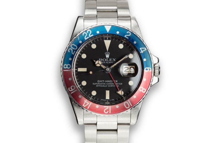 """1978 Rolex GMT-Master 1675 """"Pepsi"""" photo"""
