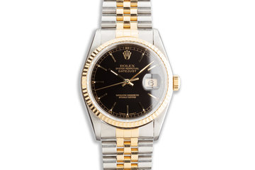 1996 Rolex Two-Tone DateJust 16233 Black Dial photo