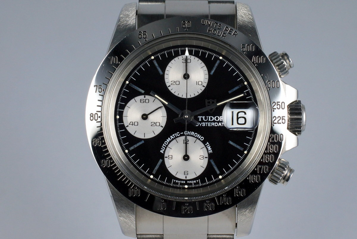 1993 Tudor Chronograph Big Block 79180 Black Dial with Box photo, #0