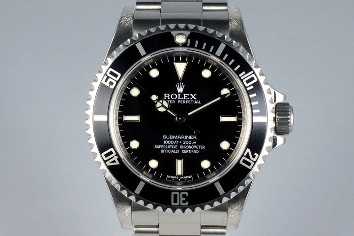 2011 Rolex Submariner 14060M 4 Line Dial with Box and Papers photo