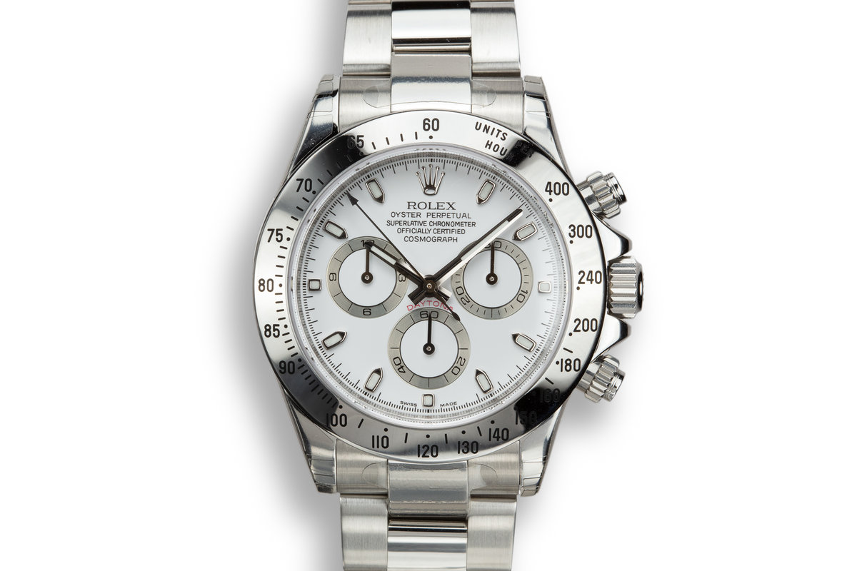 2007 Rolex Daytona 116520 White Dial in Factory Protective Stickers with Box and Papers photo, #0