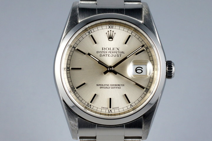 2001 Rolex DateJust 16200 Silver Dial photo
