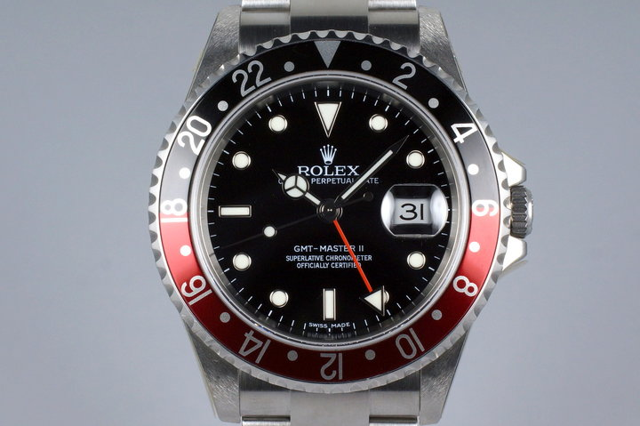 2006 Rolex GMT II 16710 'Stick Dial' with Box and Papers MINT photo