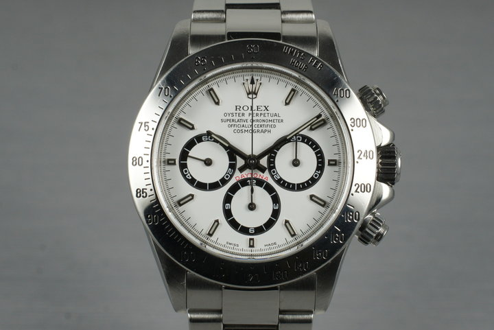 1999 Rolex Zenith Daytona 16520 White Dial with Box and Papers photo