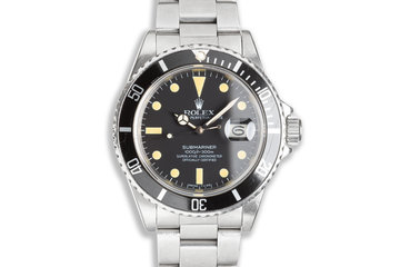 1982 Rolex Submariner 16800 with Box & Papers photo