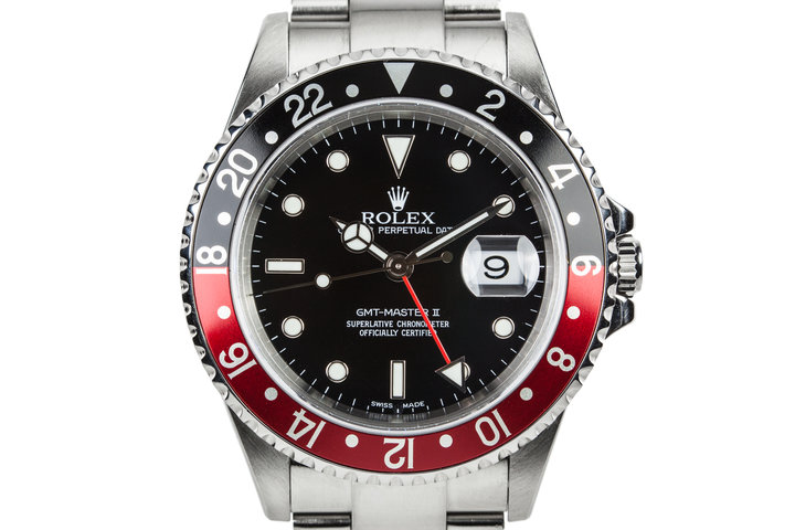 """2002 Rolex GMT-Master II 16710 with """"Coke"""" Insert and Box and Papers photo"""