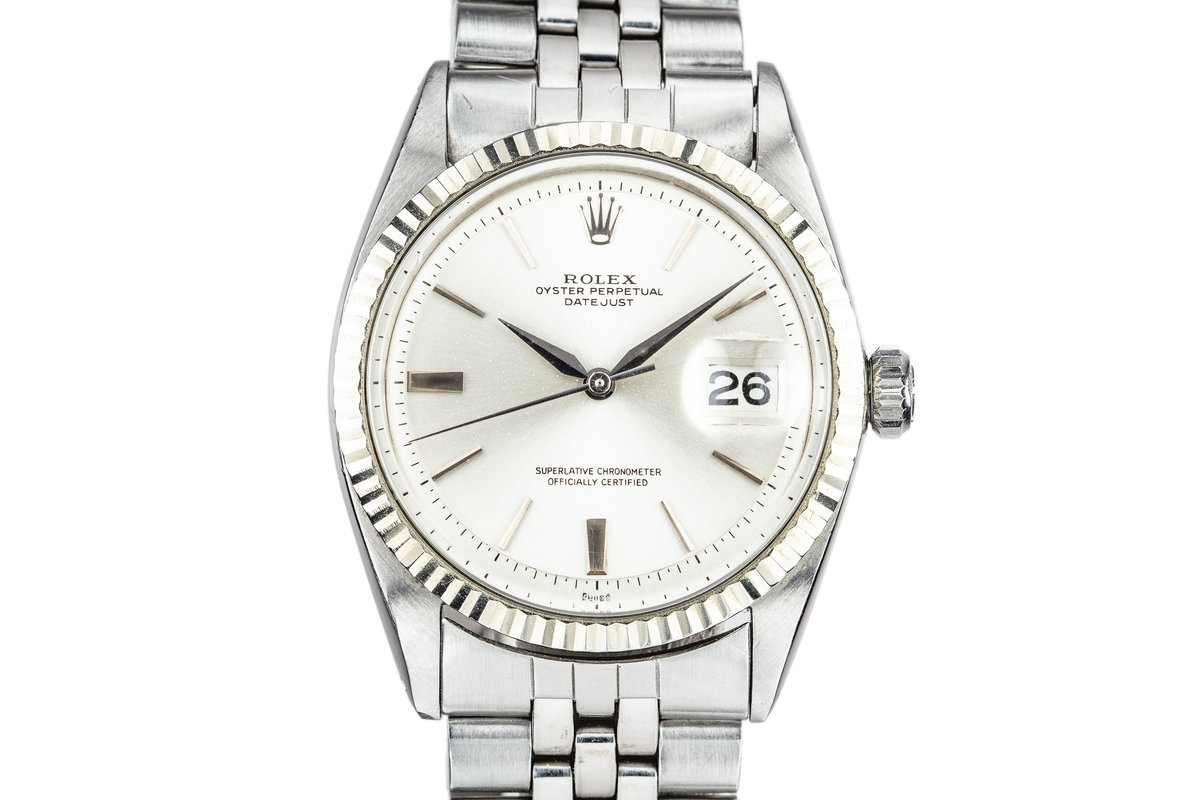 1964 Rolex DateJust 1601 with No Lume Silver Dial photo, #0