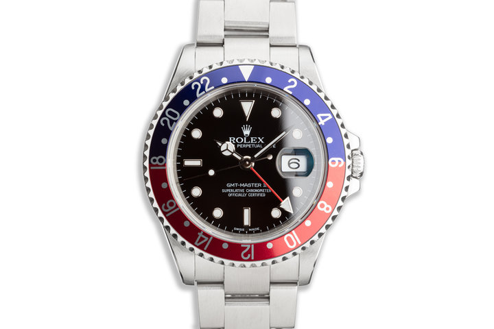 "2000 Rolex GMT-Master II 16710 ""Pepsi"" Bezel photo"