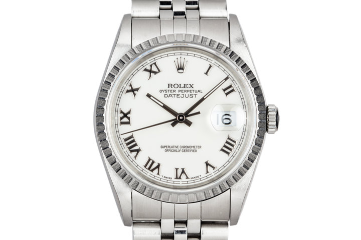 1991 Rolex DateJust 16220 With White Roman Numeral Dial photo