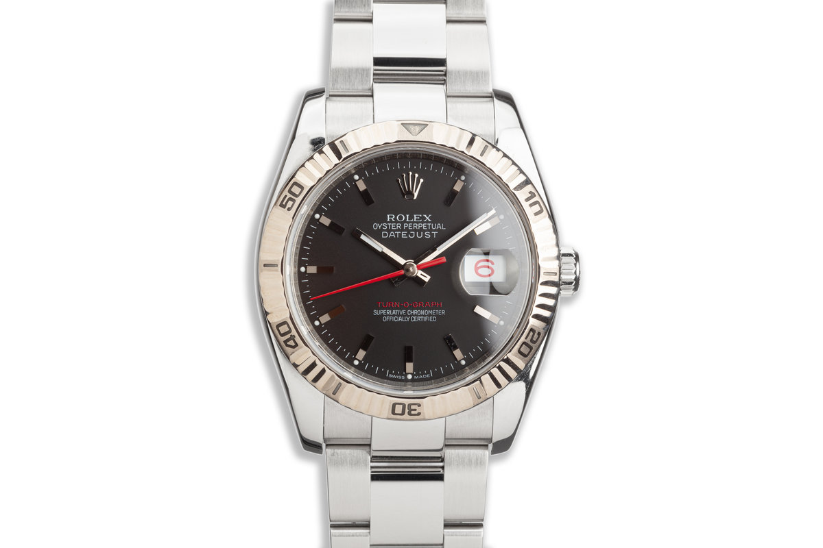 2005 Rolex Red DateJust Turn-O-Graph 116264 Black Dial photo, #0
