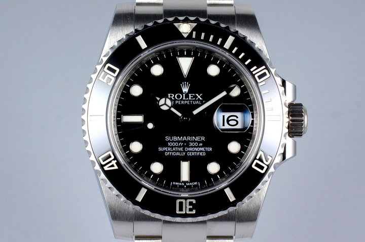 2013 Rolex Ceramic Submariner 116610 with Box and Papers photo