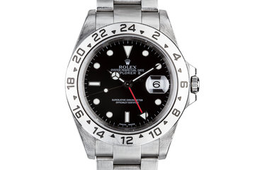 2001 Rolex Explorer II 16570 with Box and Papers photo