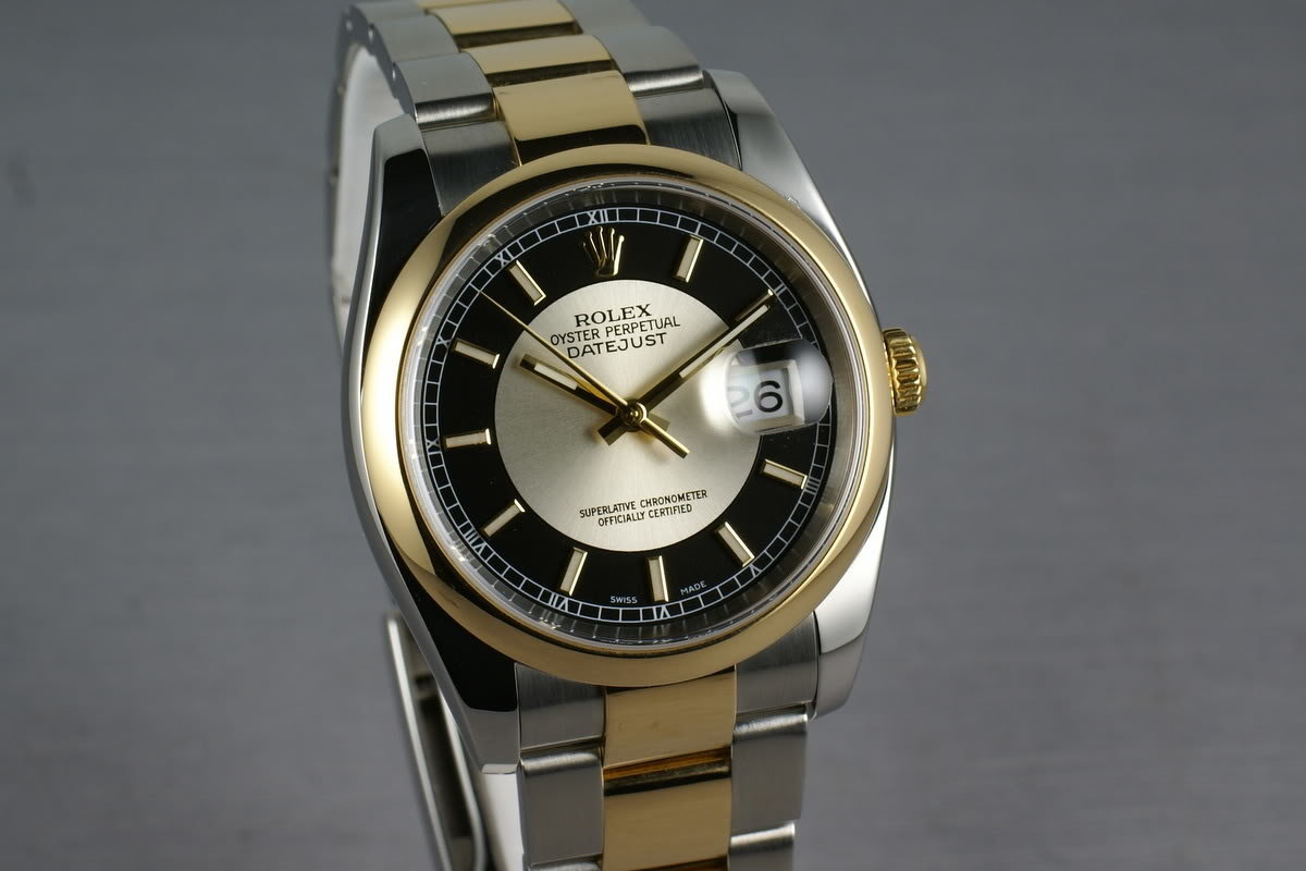 Rolex Datejust 18K and Steel 116203 Tuxedo Dial photo, #0