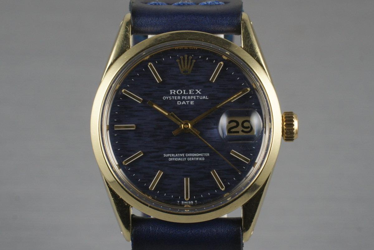 1972 Rolex 14K Gold Shell Date 1550 photo, #0