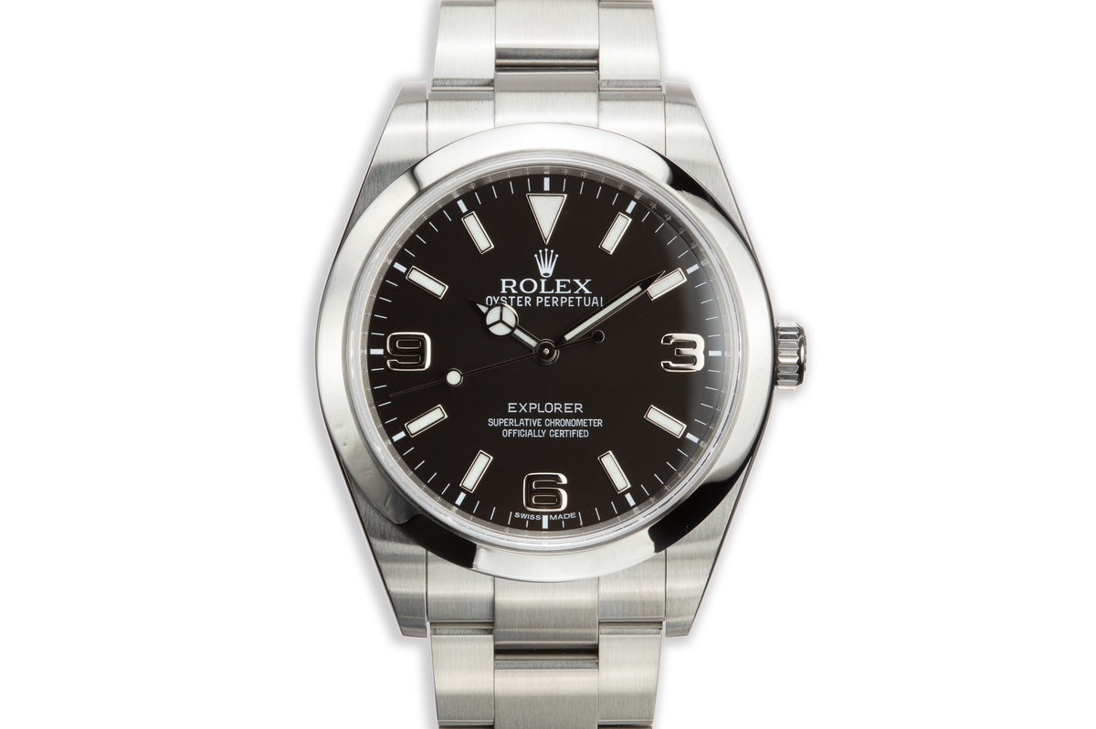 2011 Rolex 39mm Explorer 214270 MK1 Dial with Box and Card photo, #0
