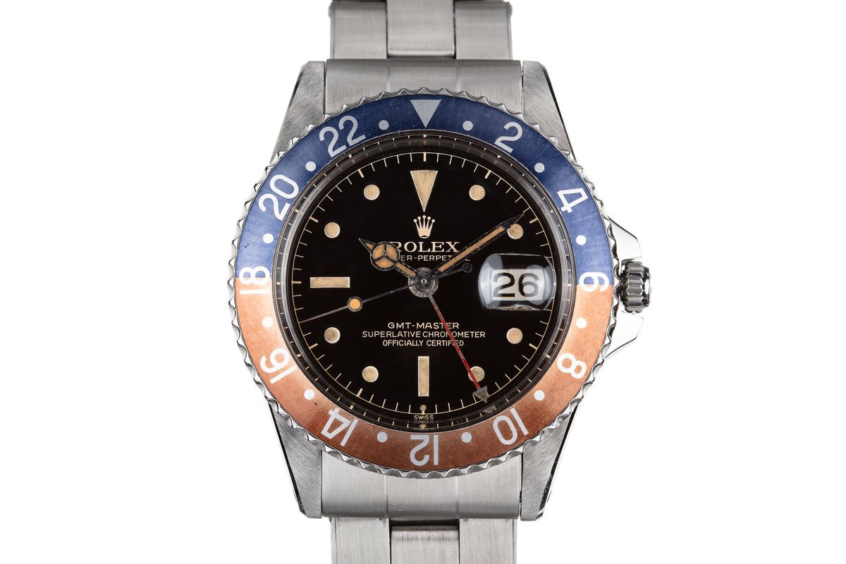1961 Rolex GMT-Master 1675 with Gilt Chapter Ring Exclamation Dial photo, #0