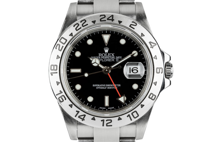 2005 Rolex Explorer II 16570 Black Dial with Box and Papers photo
