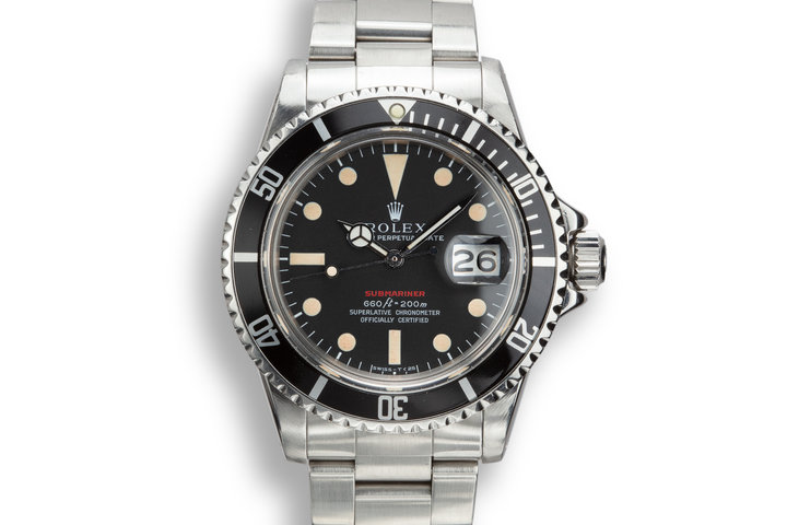 1971 Rolex Red Submariner 1680 MK IV Dial with Box and Service Papers photo