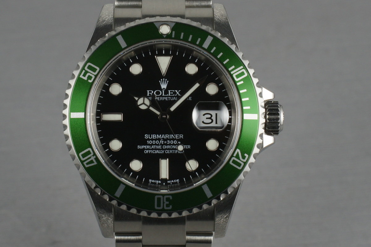 Rolex Green Submariner  16610 LV Mark 1 dial and bezel complete set photo, #0