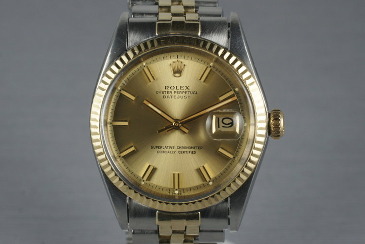 1969 Rolex Two Tone DateJust 1601 with Box and Papers photo