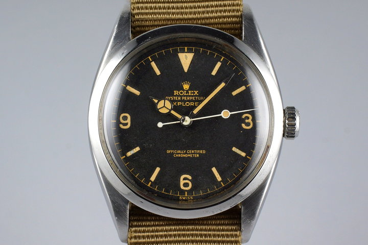 1956 Rolex Explorer 1 6610 Gilt Chapter Ring Dial photo