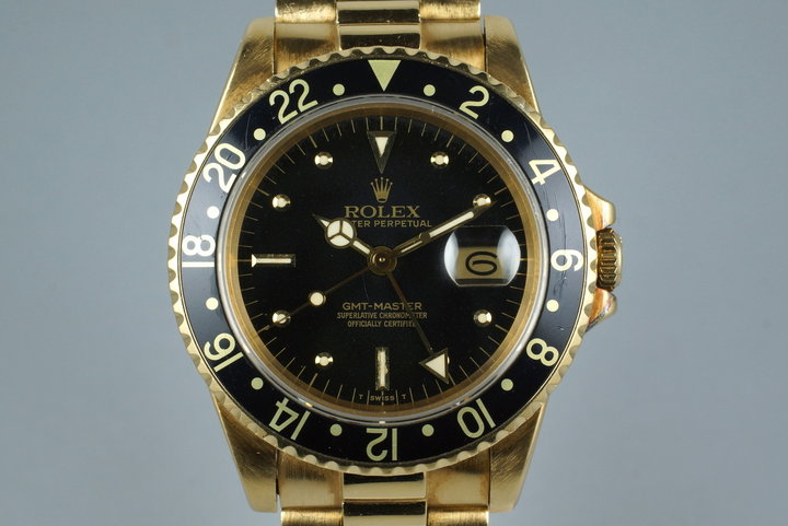 1981 Rolex YG GMT 16758 photo