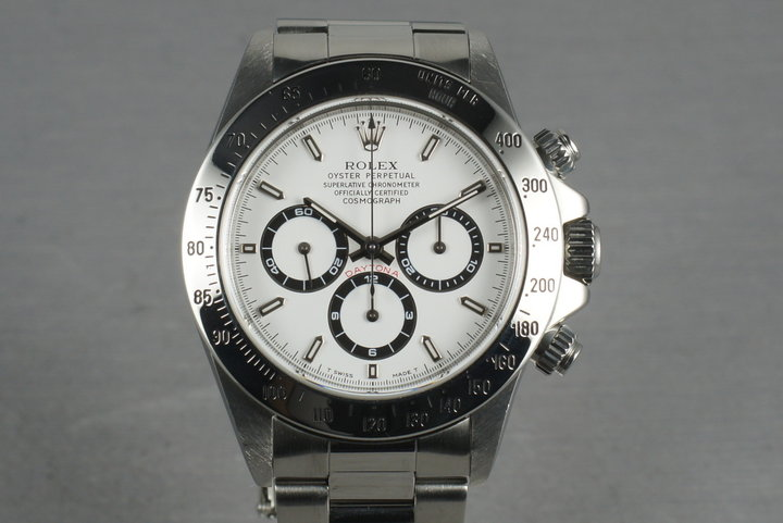 Rolex SS Zenith Daytona Ref: 16520 Box and Papers with White Dial photo
