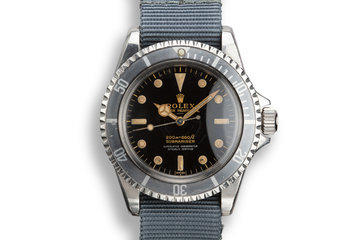 1963 Rolex Pointed Crown Guard Submariner 5512 with Gilt 4 Line Underline Dial photo