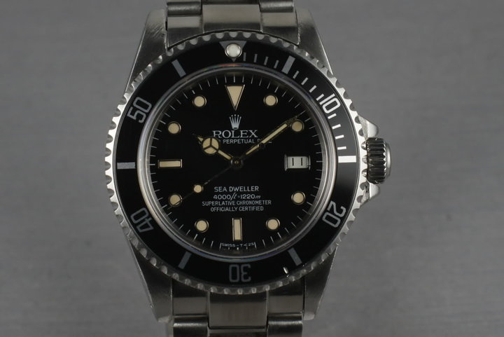 1983 Rolex Sea Dweller 16660 spider dial photo