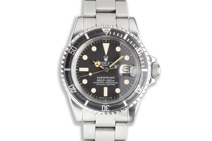 1978 Vintage Rolex Submariner 1680 with Creamy Tritium Lume and Service Papers photo