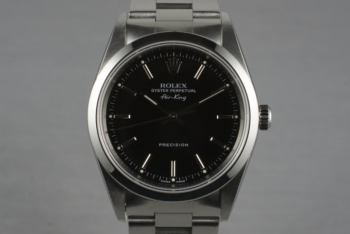 2000 Rolex Air-King 14000M with Black Dial photo