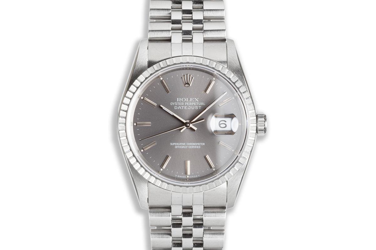 1991 Rolex DateJust 16220 Dark Gray Dial photo, #0