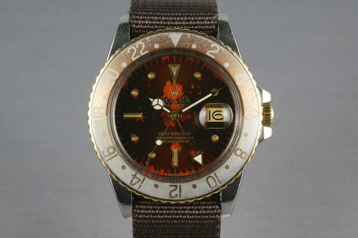 Rolex GMT Two Tone 16753 with root beer tropical nipple dial photo, #0