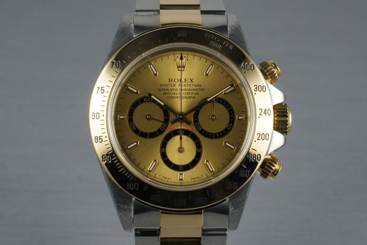 1997 Rolex 18K Zenith Daytona 16523 with Box and Papers photo