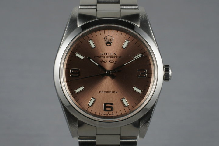1999 Rolex Air-King 14000 Salmon Dial photo