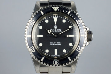 1971 Rolex Submariner 5513 with RSC Papers photo