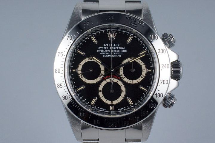 1997 Rolex SS Zenith Daytona 16520 Black Dial photo
