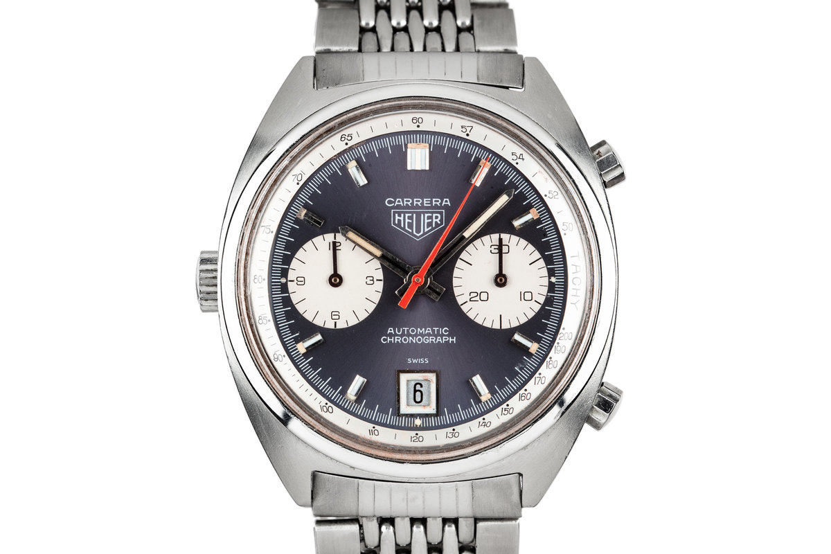 1970s Heuer Carrera 1153N with Lavender Dial photo, #0
