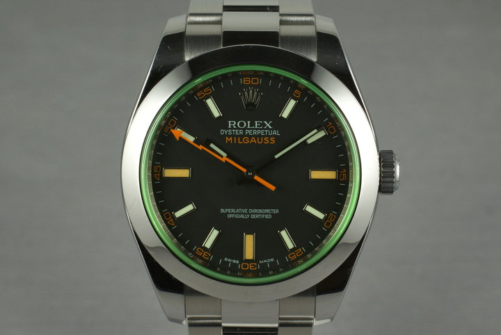 2009 Rolex Milgauss Green 116400V photo
