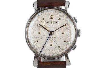 1960 Rolex Steel Datocompax Triple-Date Chronograph 4768 photo
