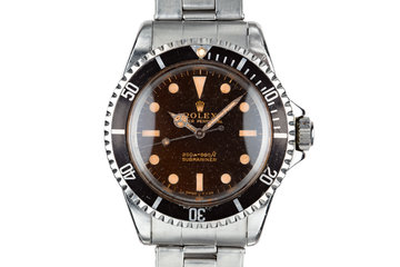 1965 Rolex Submariner 5513 with Tropical Gilt Dial photo