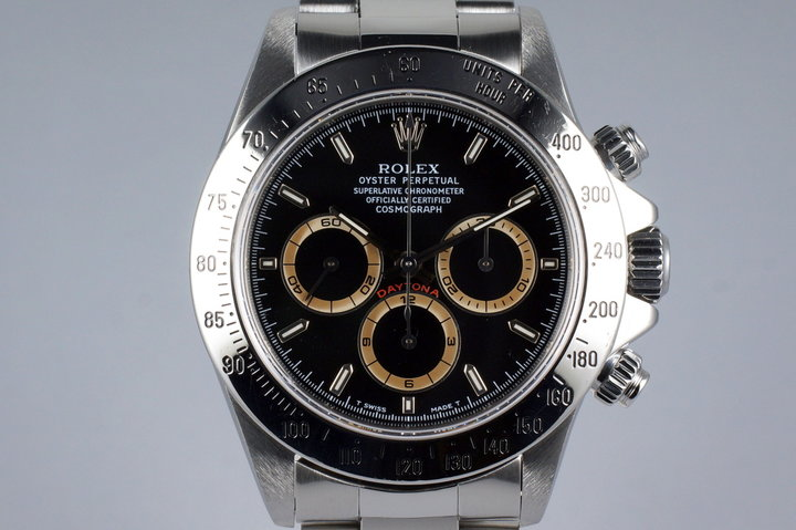 1997 Rolex Zenith Daytona 16520 Black Patrizzi Dial photo