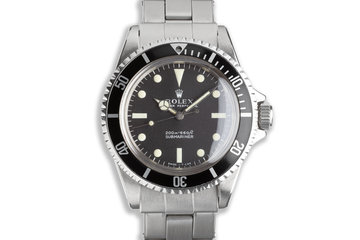 """1967 Rolex Submariner Meters First Dial with Creamy """"Day Glow"""" Lume photo"""