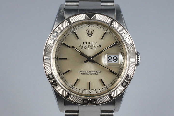 1999 Rolex DateJust 16264 Thunderbird with Box and Papers photo