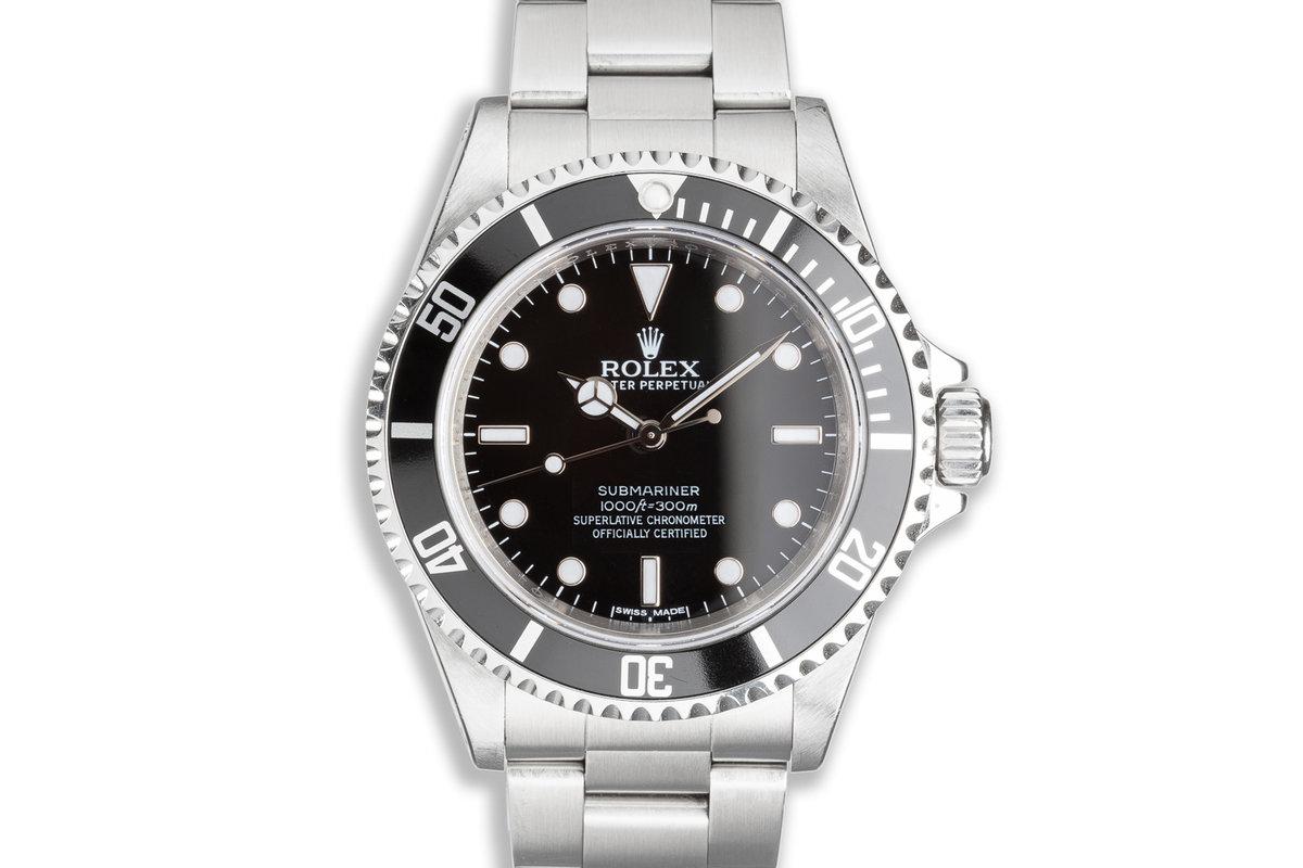 2008 Unpolished Rolex 4 Line Submariner 14060M photo, #0