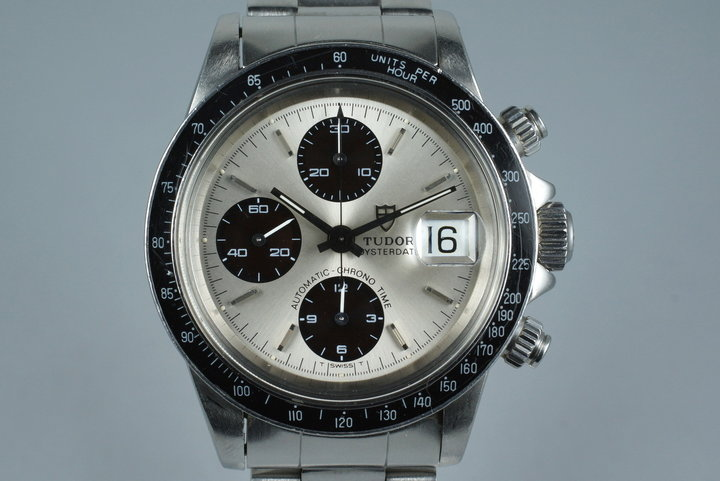 1992 Tudor Chronograph Big Block 79180 Silver Dial with Box photo